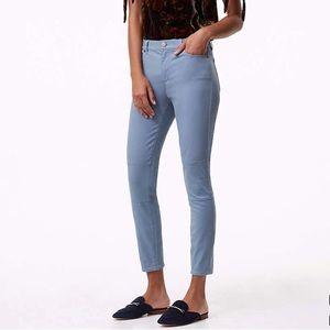 LOFT Blue sateen Marisa pants